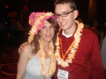 Pimp hats, Mardi-Gras beads, and leis were required attire at the All-Conference Party. as Mathew Nikasch and I illustrate!